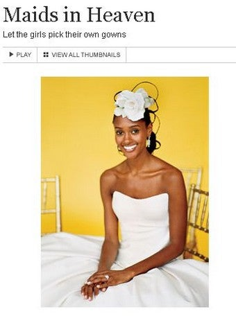 Illustration for article titled At Brides.com, It's A Very White Wedding
