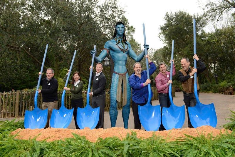 Executives, many of whom are no longer with the company, break ground on Avatar Land in January 2014 (Disney)