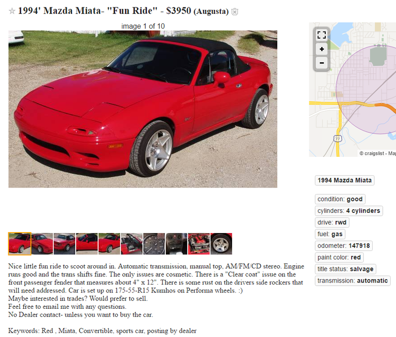 Illustration for article titled The most confusing Miata ad ever