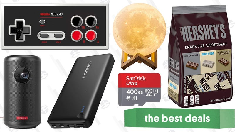 Illustration for article titled Saturday's Best Deals: Nebula Capsule II Projector, Moon Lamp, Last Minute Chocolate, and More