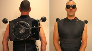 Illustration for article titled Party Vest Straps an 8-Inch Subwoofer To Your Back