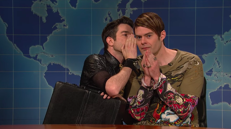 Here's what John Mulaney said to make Bill Hader break character on SNL