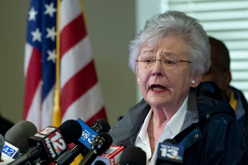 Alabama Gov. Kay Ivey speaks at a news conference in Beauregard, Ala., on March 4, 2019. Ivey is apologizing after a radio interview described her wearing blackface during a college skit in the 1960s.
