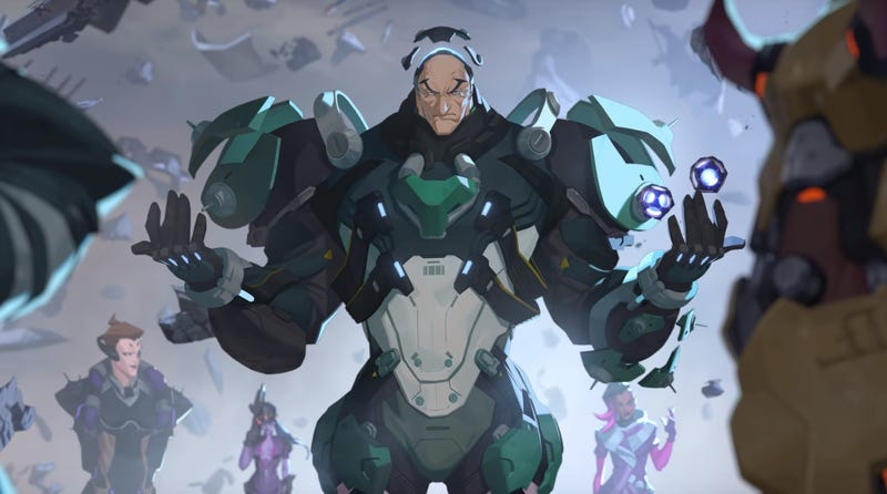 Illustration for article titled Overwatch's New Hero Is Sigma, An Astrophysicist Who Doesn't Know He's A 'Living Weapon'