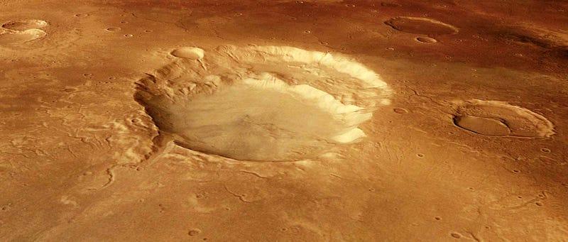 Illustration for article titled Un posible supervolcán en Marte fascina a los astrónomos