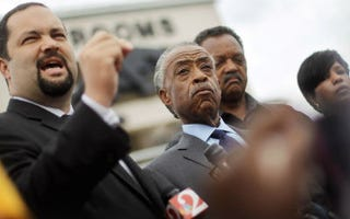 NAACP President and CEO Benjamin Jealous (left) with theRevs. Al Sharpton and Jesse Jackson (Mario Tama/Getty Images)