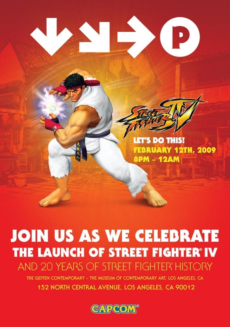Illustration for article titled You Are Cordially Invited To Attend The Street Fighter IV Launch Party