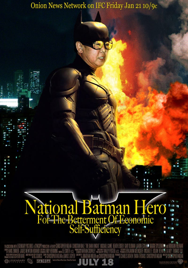 Illustration for article titled Movie Poster: Kim Jong Il As The Next Batman