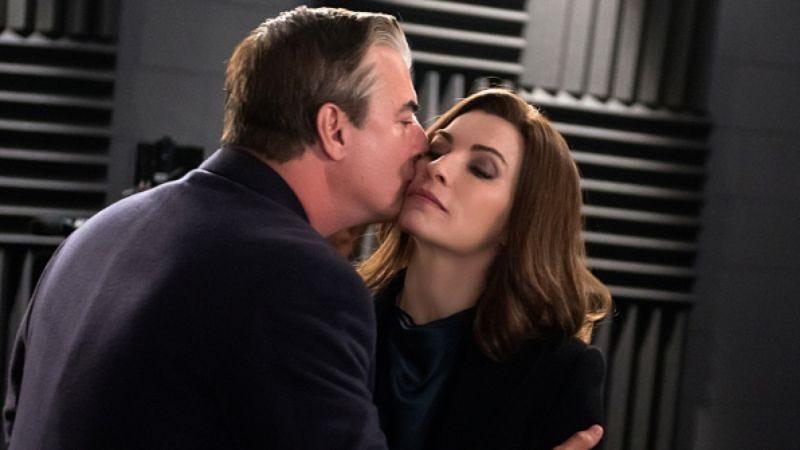 Chris Noth and Julianna Margulies (CBS)