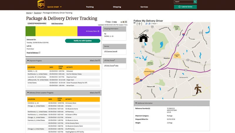 Illustration for article titled New UPS Extended-Tracking Numbers Give Customers Updates On Delivery Driver's Location For Years After Package Drop-Off