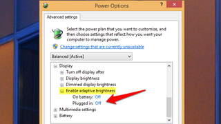 Disable Windows' Annoying Adaptive Brightness Feature on
