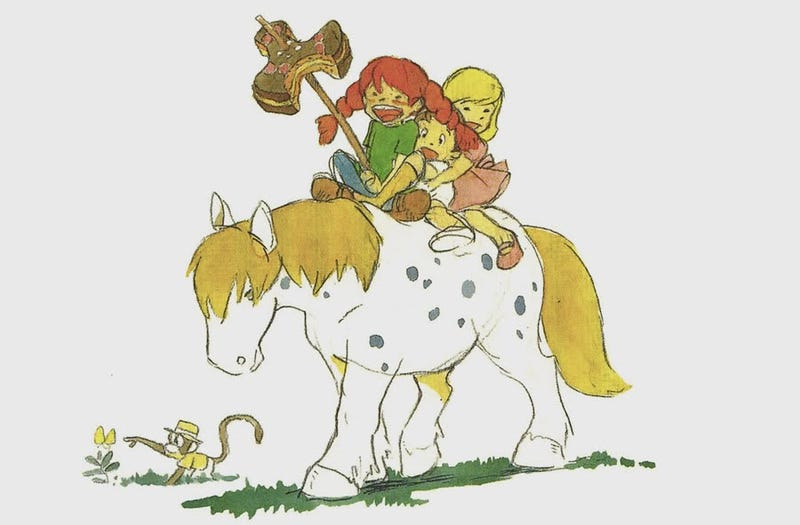 Illustration for article titled Concept art from the Pippi Longstocking movie Hayao Miyazaki never made