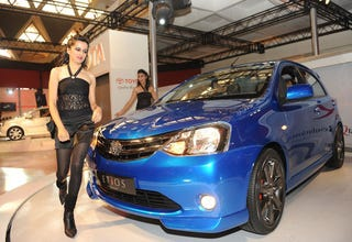 Illustration for article titled Toyota Etios Concept: Live Photos