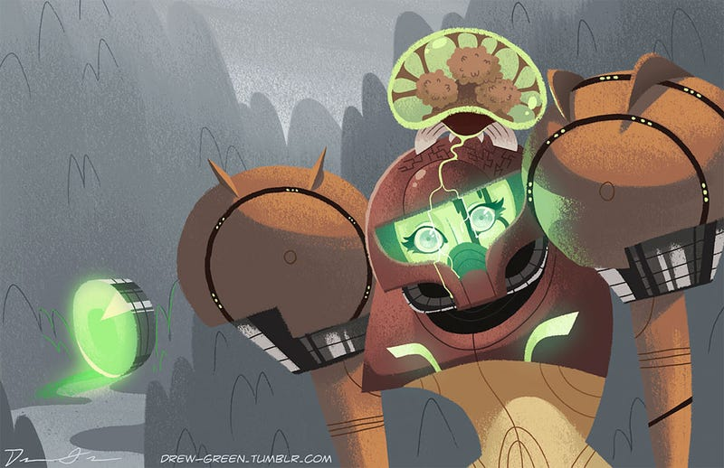 Illustration for article titled Samus Gets A Deep Brain Kiss for Metroid's 25th Anniversary