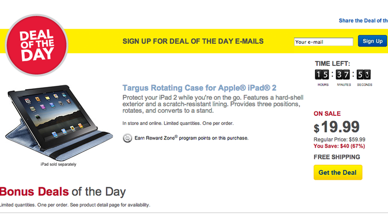 Illustration for article titled Best Buy's Deal of the Day Ad Uses (GASP!) a Jailbroken iPad (Updated)