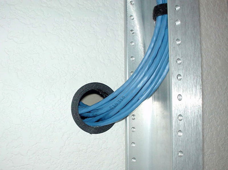 how to wire your house with cat5e or cat6 ethernet cable,