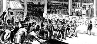 Illustration for article titled 150 Years Ago, People Watched Competitive Walking Instead of Baseball