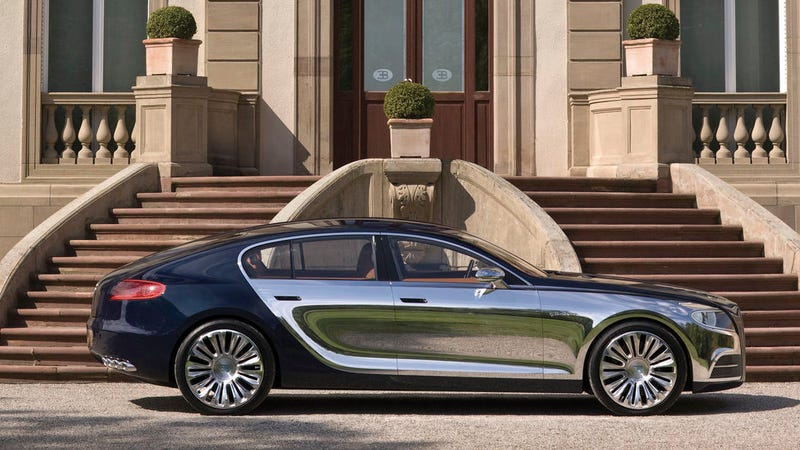 Illustration for article titled Bugatti Might Make an Electric Luxury Sedan Based On the Porsche Taycan: Report