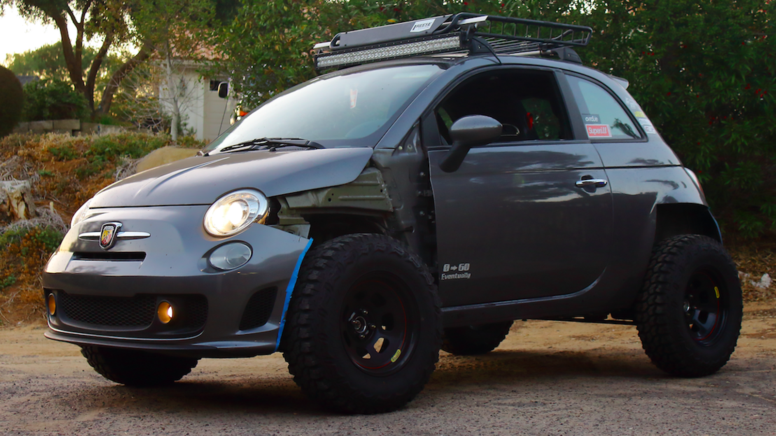 Fiat San Diego >> How One Man Turned His Fiat 500 Abarth Into an Offroader ...