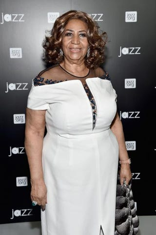 Aretha Franklin in 2015Mike Coppola/Getty Images for Jazz at Lincoln Center