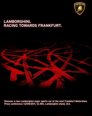 """Illustration for article titled New Lamborghini """"super sports car"""" coming next month"""