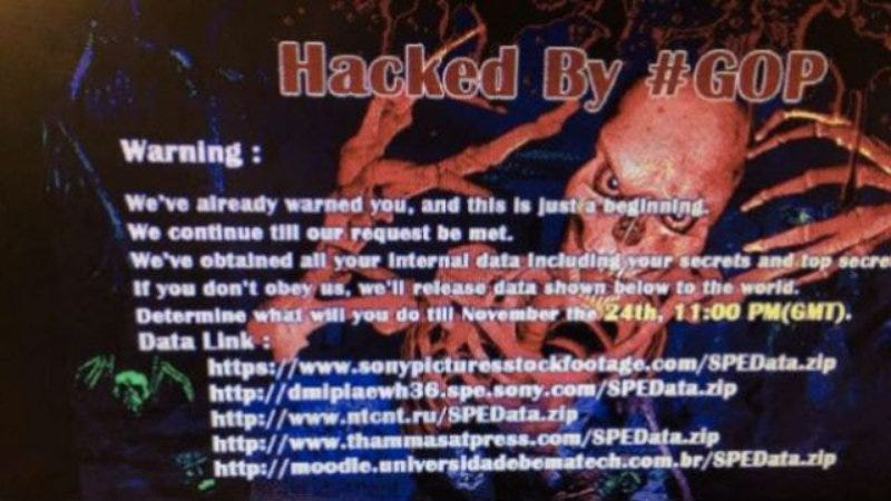 Illustration for article titled Report claims the Sony cyberattack was pretty much all Sony's fault