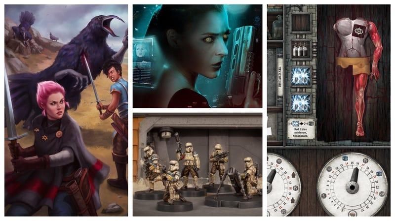 From left: Sundown, Altered Carbon, Star Wars: Legion, Abomination: The Heir of Frankenstein
