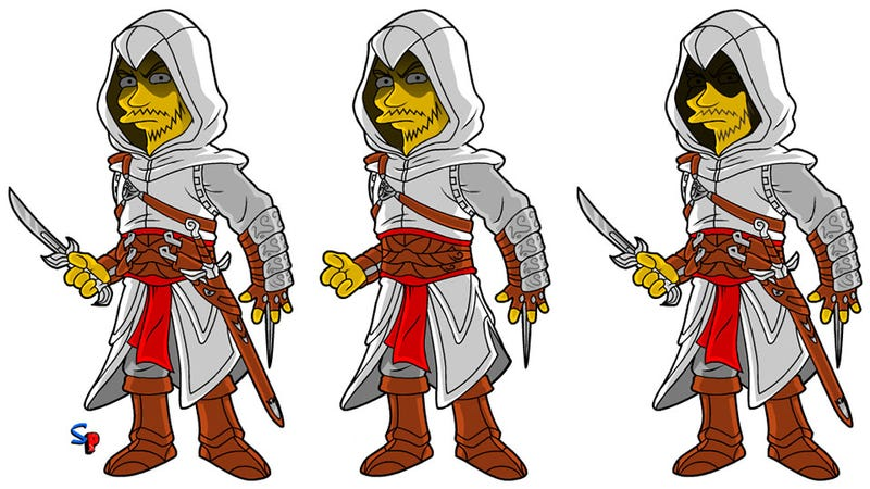Illustration for article titled Altaïr, Guest-Starring In This Week's Episode Of The Simpsons (Well, Not Really)