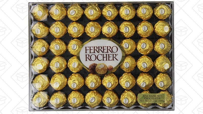 Ferrero Rocher Hazelnut Chocolate 48-Pack, $11 after 15% coupon