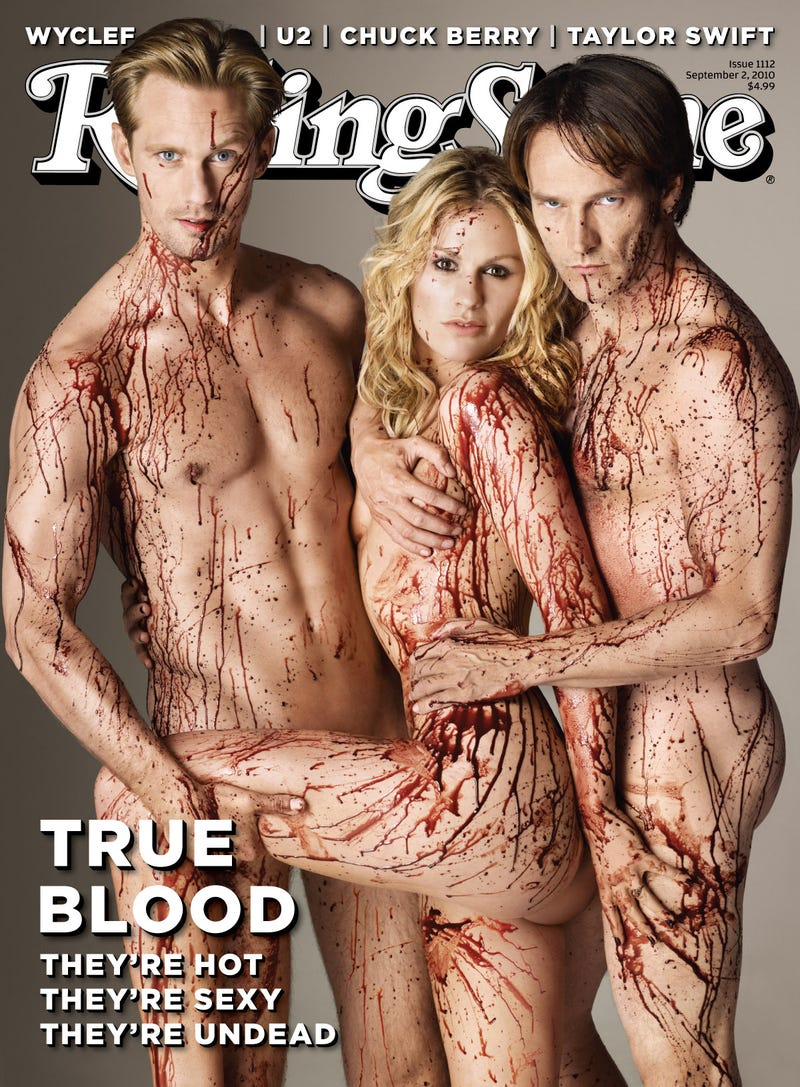 Illustration for article titled True Blood Stars Are Bloody Naked On The Cover Of Rolling Stone