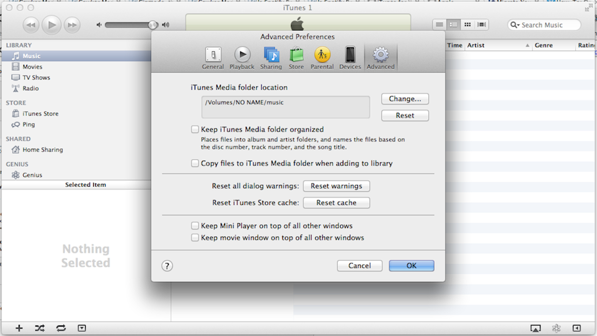 How To Keep Your iTunes Library When It Won't Fit on Your