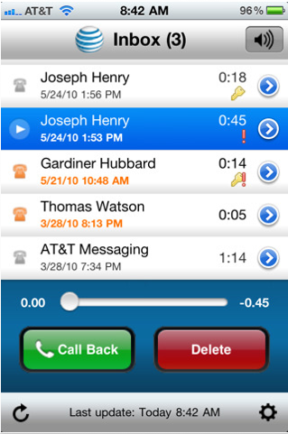 visual voicemail iphone at amp t adds visual voicemail for u verse landlines 13250