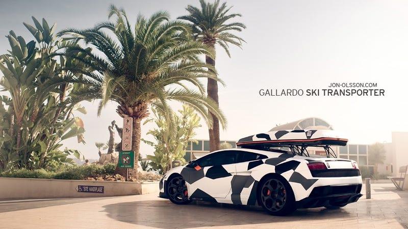 Illustration for article titled Swede builds new Lamborghini for the ski slopes