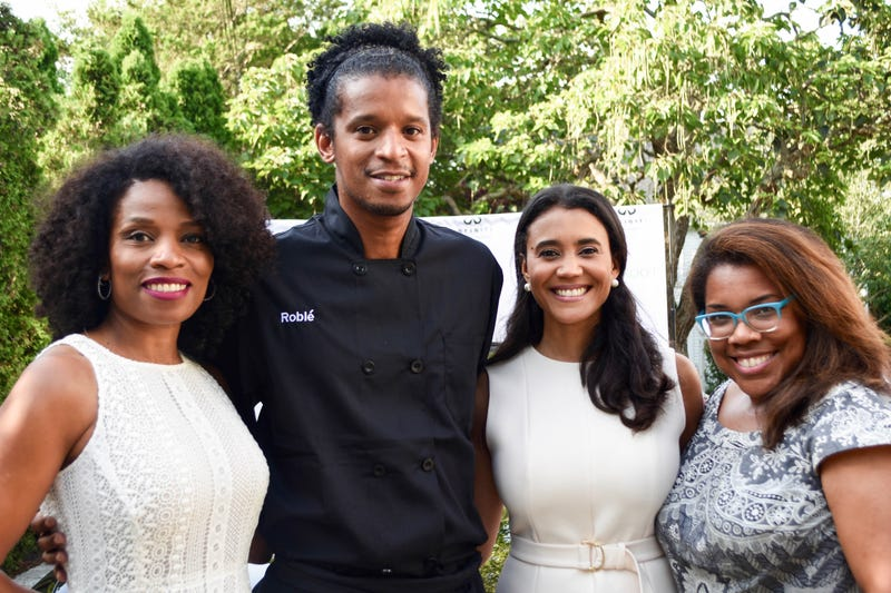 Danielle Austen, CEO of Fluent 360; Roblé Ali, chef, Roblé and Co; Donna Byrd, publisher, The Root; Danielle Belton, managing editor, The Root, at the List Release Reception on Martha's Vineyard for The Root 100 2016 Veronica Graves/ The Root