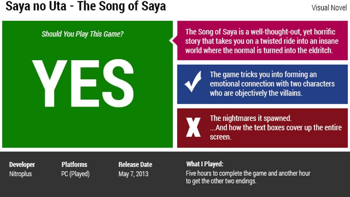 Saya no Uta — The Song of Saya: The Kotaku Review