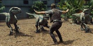 Illustration for article titled Jurassic World Trailer Shows Off Chris Pratt's Raptor Wrangling Skills