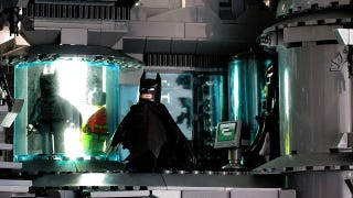 Illustration for article titled Holy Batman and His Bloody Amazing 9,000-Brick Lego Batcave!