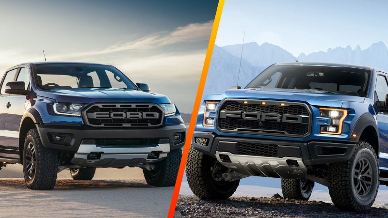 How The Ford Ranger Raptor Measures Up To The Real Raptor ...