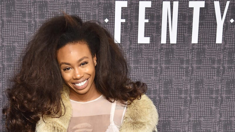 SZA attends the FENTY PUMA by Rihanna during New York Fashion Week on February 12, 2016.
