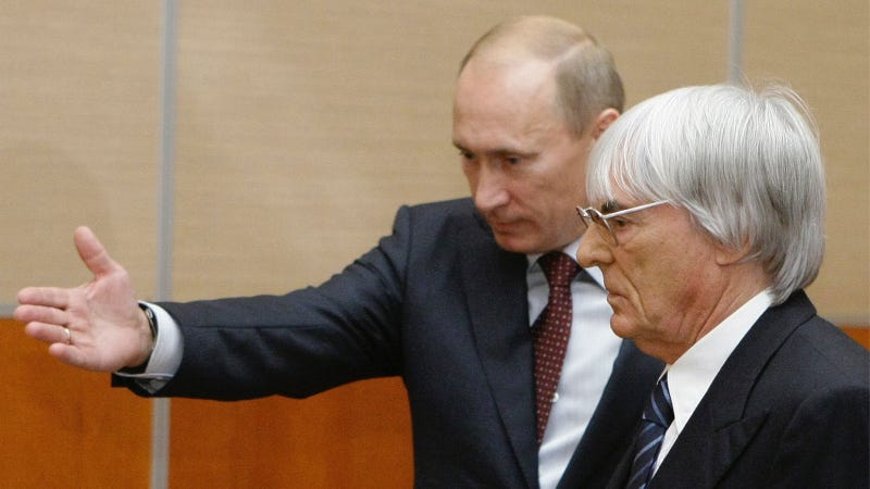 Illustration for article titled Bernie Ecclestone Thinks Putin Could Rule Europe or America