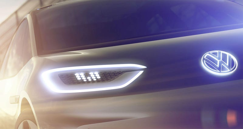 Illustration for article titled Volkswagen Teases An All-New Electric Concept That Has No Emissions To Cheat With