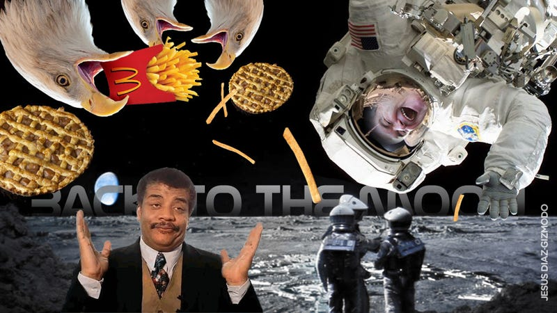 Illustration for article titled Neil DeGrasse Tyson Shoots Down Gingrich's Moon Base