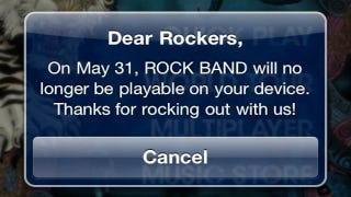 Illustration for article titled Harmonix Doesn't Know Why Mobile Rock Band Is Going Away This Month [Update]