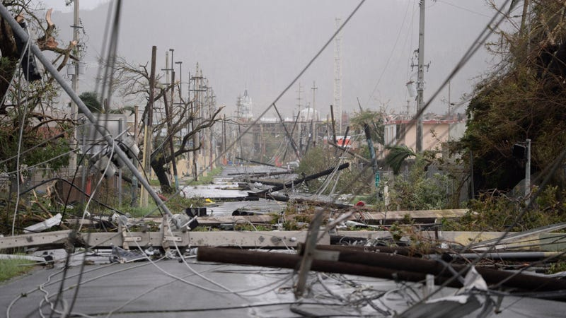 Storm damage in Humacao, Puerto Rico. Photo: AP