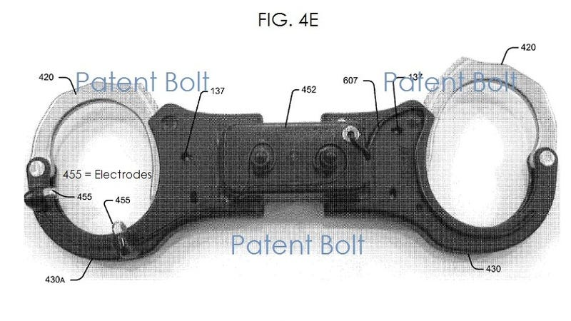 Illustration for article titled These Patents Show A Seriously Shocking Future for Handcuffs