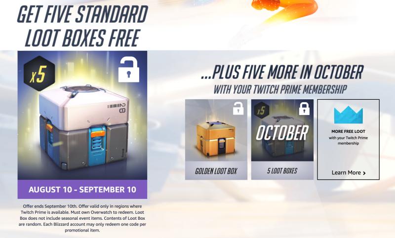 Cajas gratis de Overwatch para los usuarios de Twitch Prime