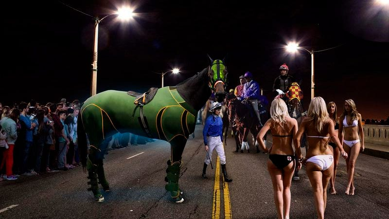 Illustration for article titled Unregistered Horses Meet Under Cover Of Darkness For Kentucky Street Derby