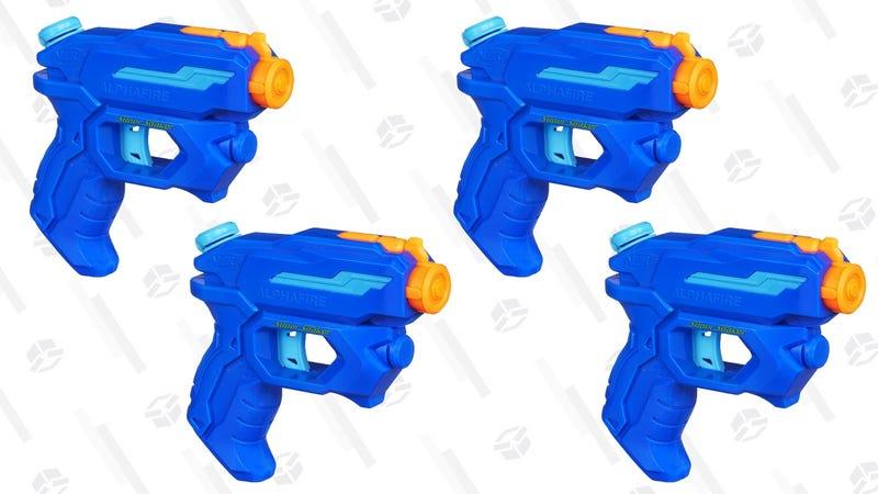 4-Pack Nerf Super Soaker Pistols   $19   Daily Steals   Promo code KJNERF4