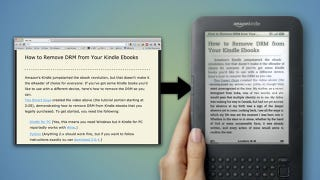 Illustration for article titled Send to Kindle Pushes Web Articles from Chrome to Your Kindle