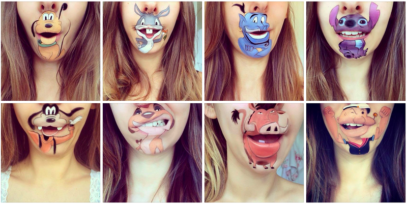 Illustration for article titled Genius Makeup Artist Transforms Her Lips Into Cartoon Characters